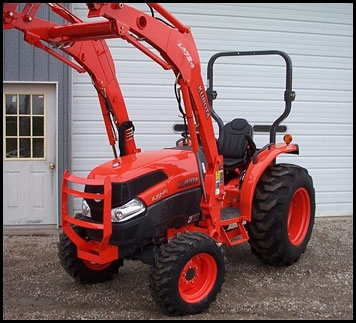 Kubota <br> Minimum: $225 		24 Hours: $275 		Weekend: $412.50 <br> (add 10% Damage Waiver Fee)